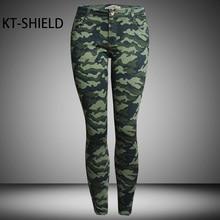 High elastic Slim camouflage jeans women pants summer casual Stretch skinny Denim printed Legging long trousers Pantalon Femme