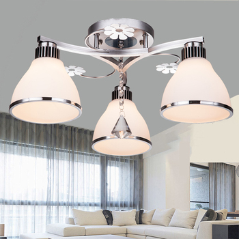 Lumière En Cristal Moderne Simple LED Plafonniers Ronds Salon Restaurant Chambre étude éclairage