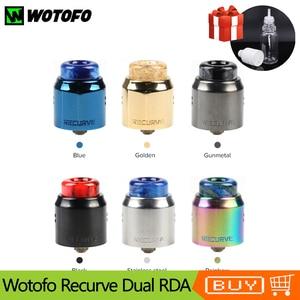 Image 1 - Новейший оригинальный испаритель Wotofo, двойной RDA бак для вейпа, 24 мм, одна и двойная катушка, восстановление, распылитель VS Рекурсивный RDA бак