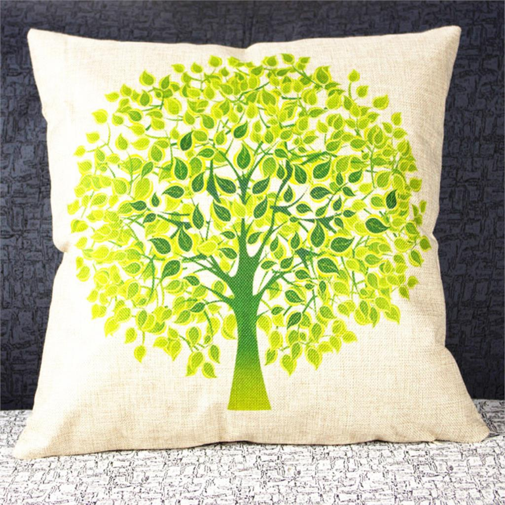 popular washable throw pillow coversbuy cheap washable throw  -  new home colorful life tree cotton linen pillow case cover washabledecorative pillow covers waist