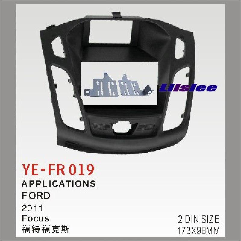 Liislee Double 2 DIN Kit de montage au tableau de bord pour Ford pour Focus 2011 ~ 2016 adaptateur cadre Facia/Audio panneau de cadre avant