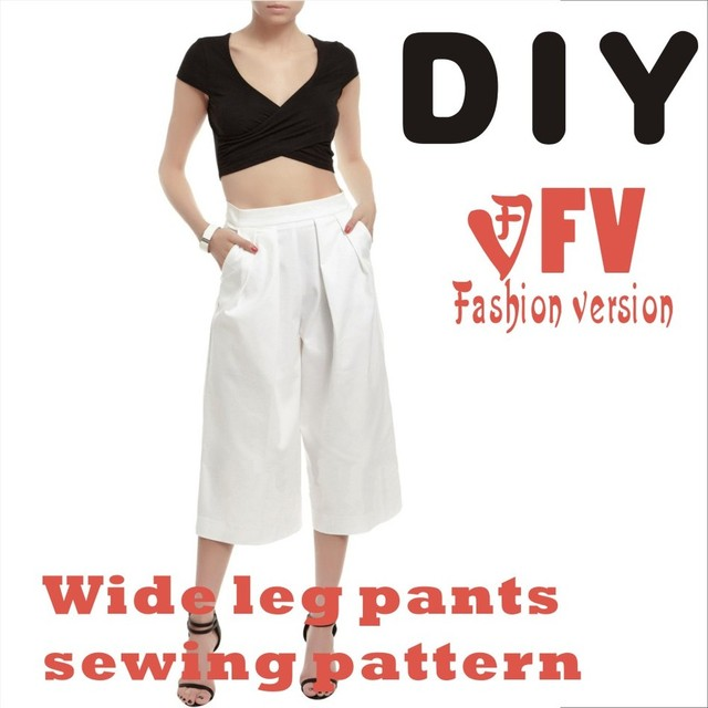 Wide Leg Trousers Sewing Pattern The Trousers Patternnot The Pants