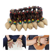 Nut Shell Orchestral Practical Percussion Bracelet Natural Bell Chimes Musical Instrument Hand Chain Props Handmade Gadget