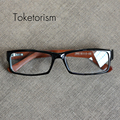 New Retro fashion wooden eyeglasses clear lenses optical glasses frame with wood temples for men women 2003