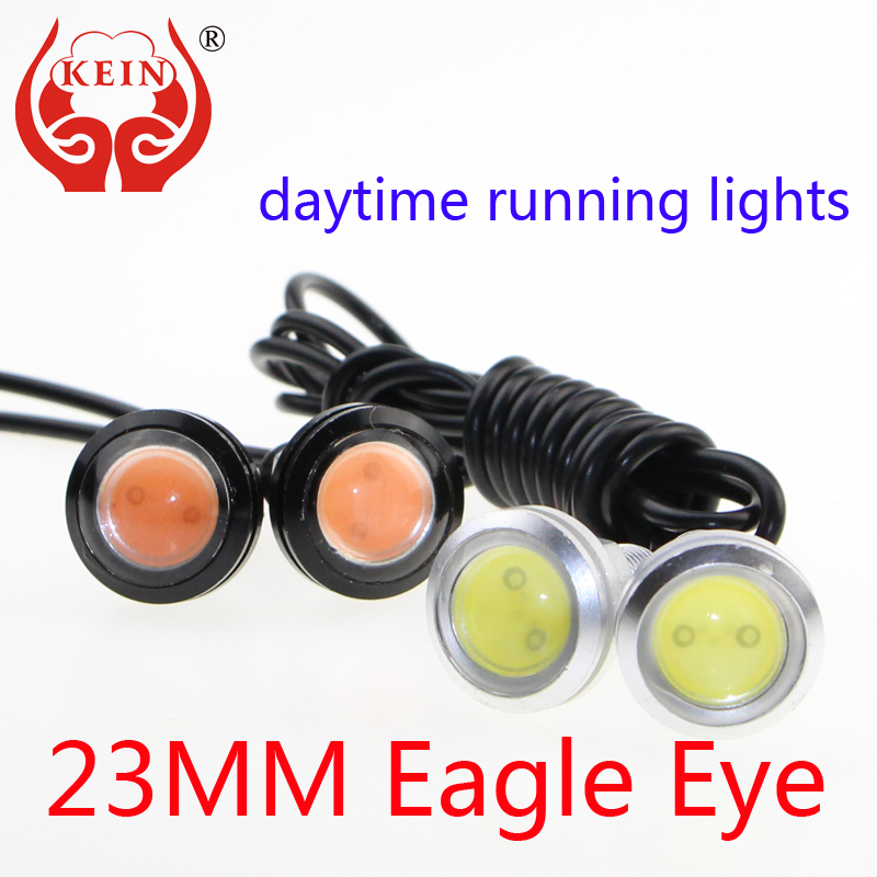KEIN (R) 23MM The 1PCS car LED Eagle Eye DRL daytime running lights modified chassis lights license plate lamp car styling