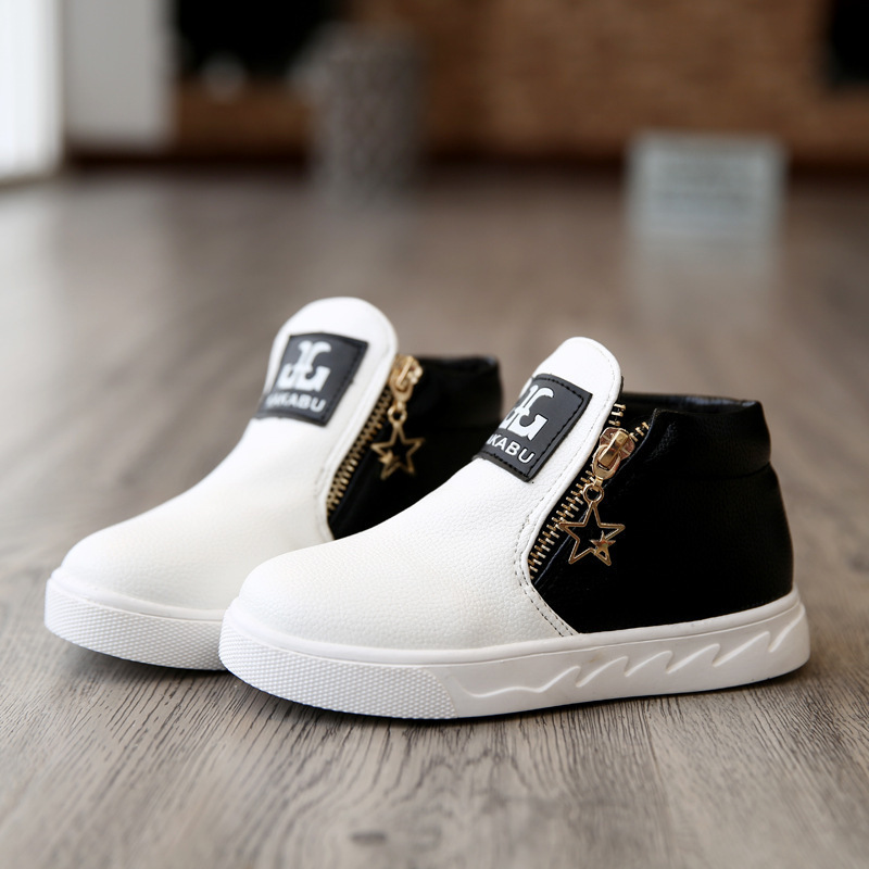 Children's Shoes Boys Girls Fashion Martin Boots Low Boots Fashion Leisure Sports Flat Shoes Kids Student Sneakers
