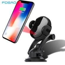 FDGAO 15W kablosuz araba şarjı otomatik montaj iPhone 11 Pro XS X XR 8 Samsung S10 S9 hava firar telefon tutucu Qi hızlı şarj