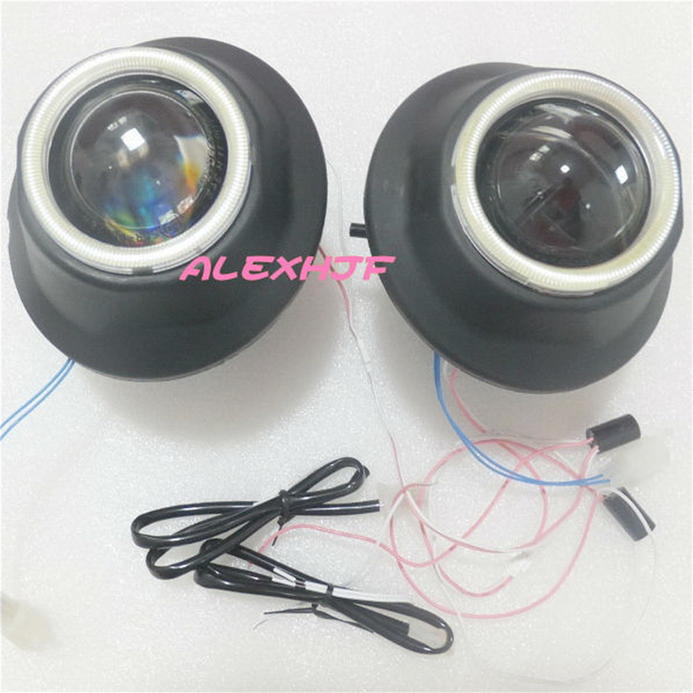 July King Bifocal Lens Fog Lamp With LED Angel Eye Rings DRL case for Toyota Land Cruiser FJ200 2012+ RAV4 2013+ Prius Tundra july king bifocal lens fog lamp cob angel eye rings drl case for suzuki alto sx4 swift splash daci a mazda bt 50 fiat dfmc etc