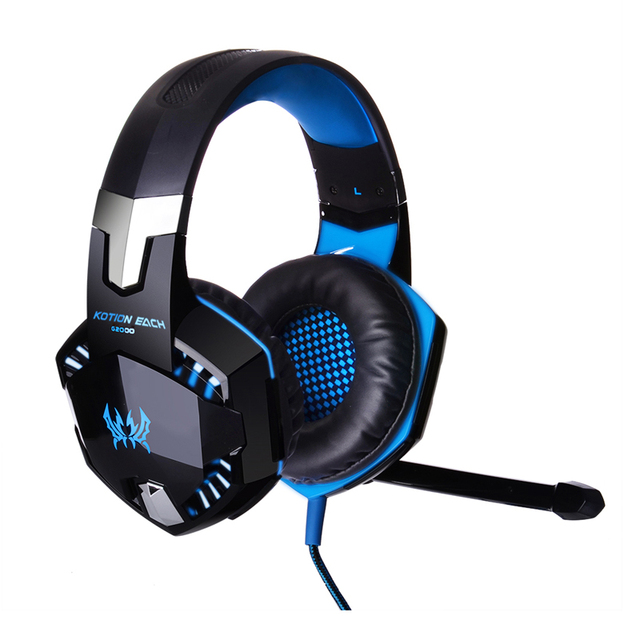 Computer Stereo Gaming Headphones Kotion EACH G2000 Best  Deep Bass Game Earphone Headset with Mic LED Light for PC Gamer