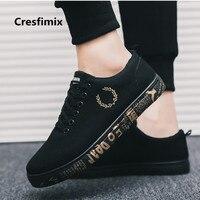 Cresfimix zapatos hombre мужской моды удобные белые парусиновые туфли Подросток cool высокого качества Осенняя обувь мужская обувь a3083
