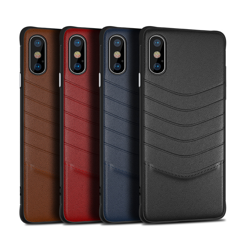 Luxury PU <font><b>Leather</b></font> <font><b>Case</b></font> For <font><b>iPhone</b></font> 7 <font><b>Case</b></font> Plus <font><b>iPhone</b></font> 6 <font><b>Case</b></font> 6s Plus Business Card Holder Back Cover Phone <font><b>Cases</b></font> For Men image
