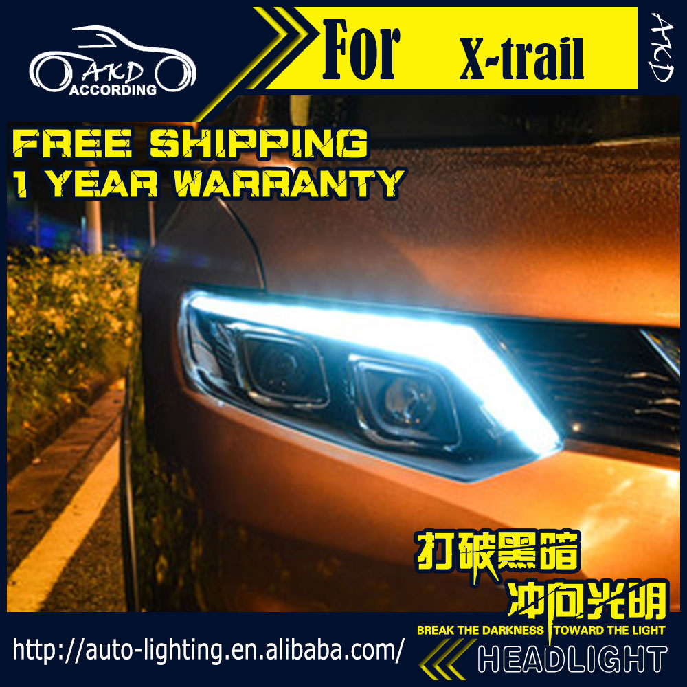 AKD Car Styling Head Lamp for Nissan X-trail Headlights 2014-2016 Rouge LED Headlight H7 D2H Hid Option Angel Eye Bi Xenon Beam givenchy 2014 12g 2 7