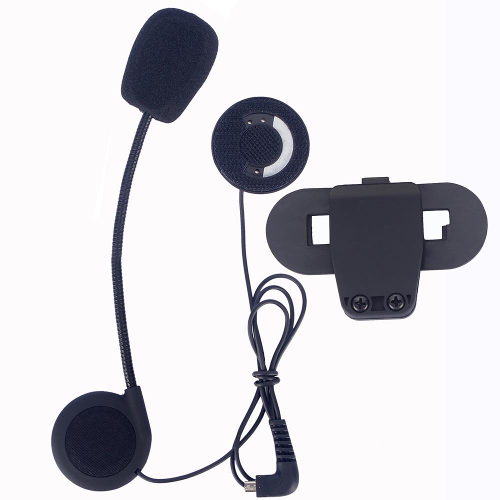 Prix pour Moto casque intercom accessoires, Écouteur et microphone et clip convient pour T-COMVB, TCOM-SC bluetooth interphone