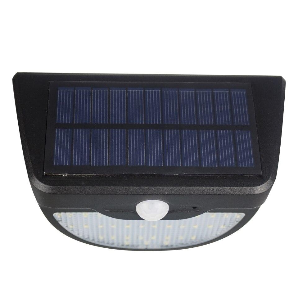 € 11.72 40% de réduction|1 pièces 650LM 37 LED s LED lampe solaire  extérieur étanche réverbère détecteur de mouvement lampe appliques  éclairage jardin ...