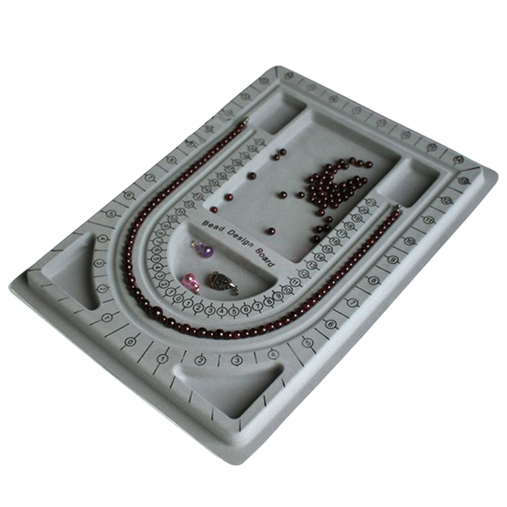 1Pc Flocked Bead Board Bracelet Necklace Beading Jewelry Making Organiser Tray DIY Craft Tool Grid Plate школьные рюкзаки thorka школьный рюкзак mc neill единорог