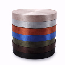 25mm Width 50 yard Colored nylon woven webbing band for DIY clothing bags Sewing Webbing tape accessories