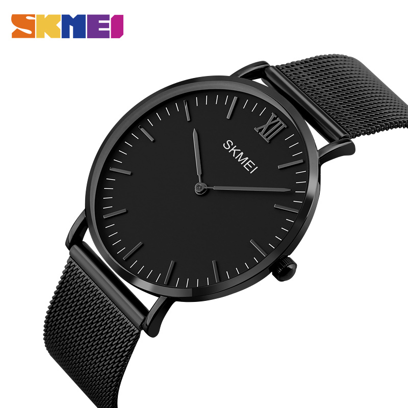SKMEI Men Thin Quartz Watch Top Brand Luxury Man Watches Steel Male Wristwatches Waterproof Clock Leather Relogio Masculino 1181 skmei men s quartz watch fashion watches leather strap 3bar waterproof luxury brand wristwatches clock relogio masculino 9106