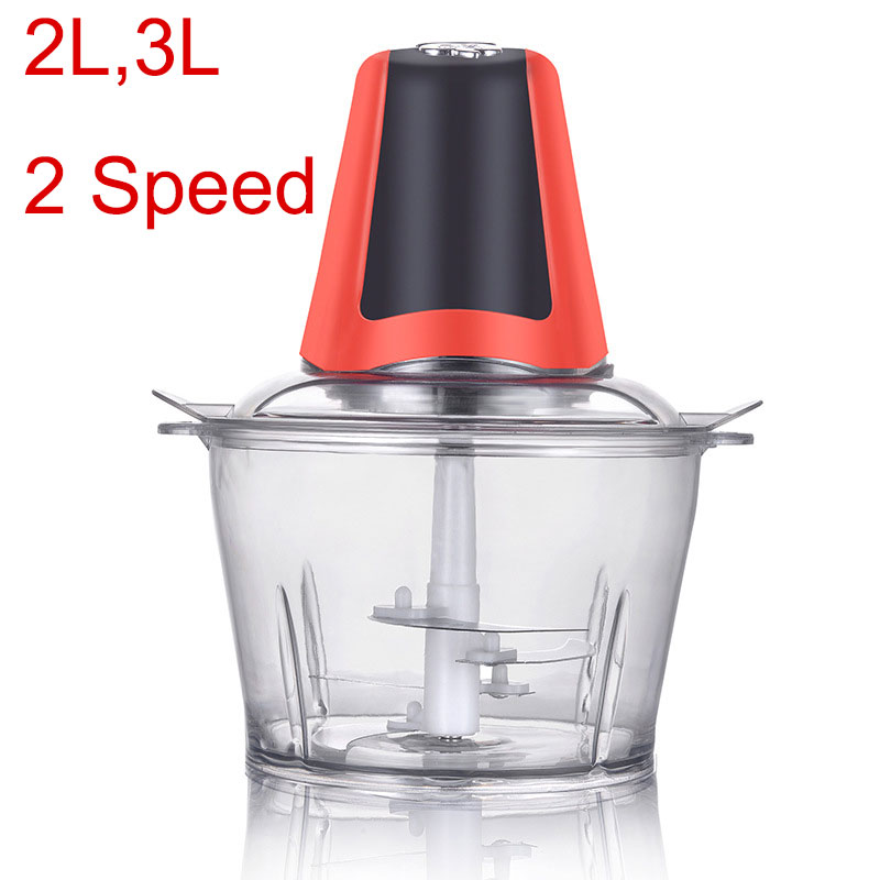 2L 3L TWO SPEED Electric Kitchen Meat Grinder Chopper Cocina Shredder Food Chopper Stainless Steel Knife Meat Slicer