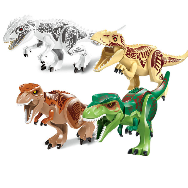 Jurassic Dinosaur world Figures Tyrannosaurs Rex Building Blocks Compatible With Legos Dinosaur Toys dinosaur walking rex