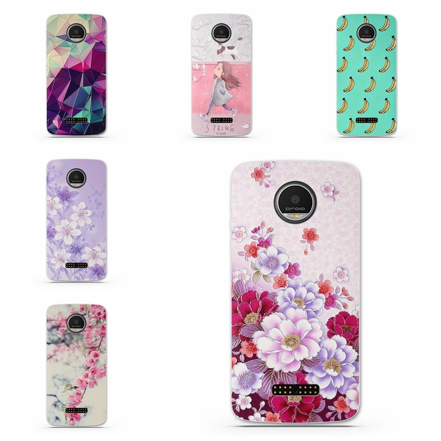 Case for Motorola Moto Z Force Droid Cover Cases Soft Silicon TPU 3D ...