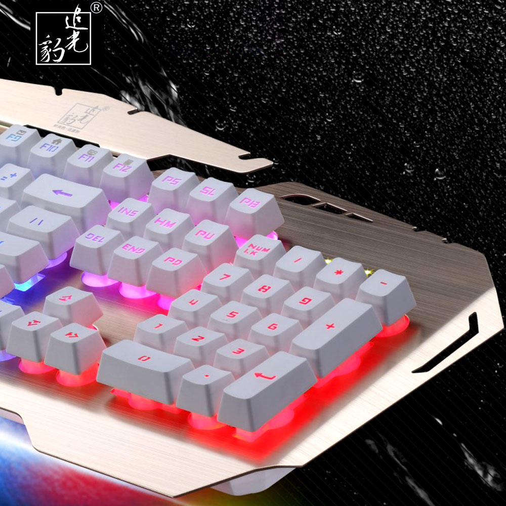 ZGB G600 English Wired Gaming Keyboard with 3 Colors LED Backlit light Float Keycap for Desktop Laptop Macbook USB Teclado Gamer