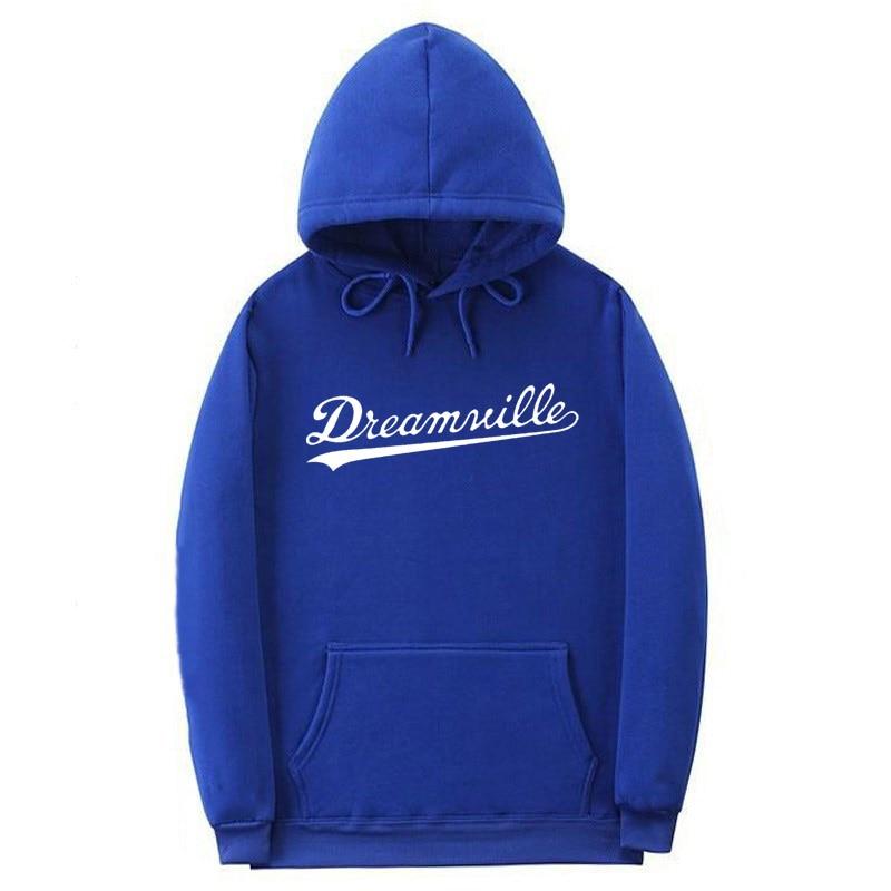 Nouveau sweat à capuche pour homme Hip Hop DREAMVILLE J Cole Logo à capuche Swag lettre polaire J Cole à capuche hiver sweat à capuche pour homme pull