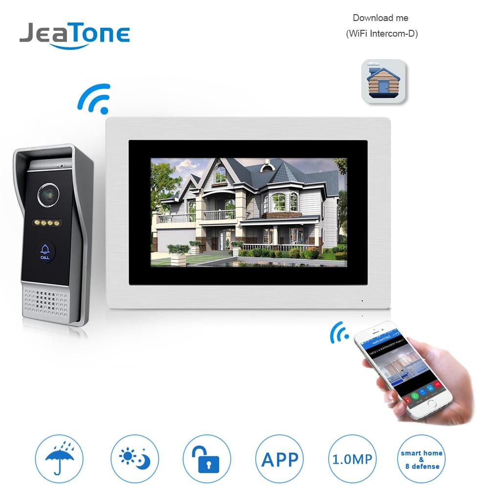 7 pouces WIFI IP vidéo porte téléphone interphone sans fil porte cloche porte haut-parleur système de contrôle d'accès écran tactile détection de mouvement