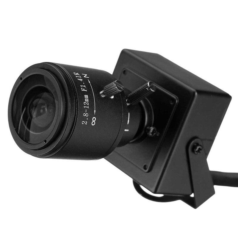 imágenes para HD Infrarrojo Impermeable Mini Cámara IP ONVIF 2.0 1280X720 P 2.8-12mm Manual Lente Varifocal Zoom 1.0MP Plug And Play Con Soporte