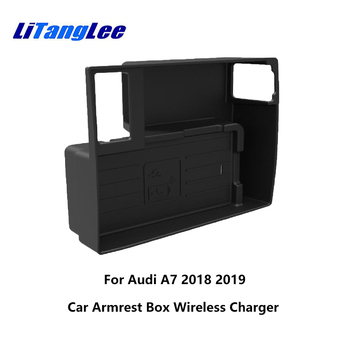 LiTangLee Wireless Car Charger for Audi A7 4G9 2018 2019 Charging Dock Mobile Phone Holder Car Quick Charge Fast Mobile Phone