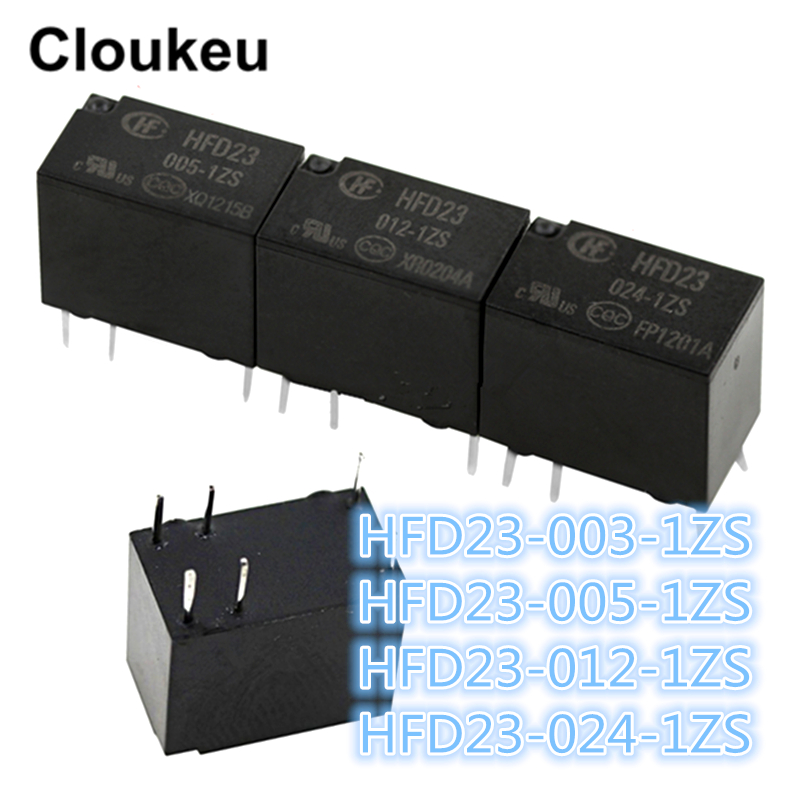 100Pcs Relay DIP6 JRC 23F HFD23 003 1ZS HFD23 005 1ZS HFD23 012 1ZS HFD23 024
