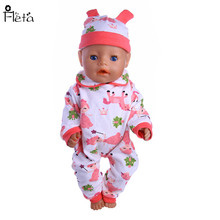 "Fleta New Magic Fairy mönster jumpsuit passform 43cm Baby Born Zapf eller 18 ""American Girl Doll tillbehör b75"