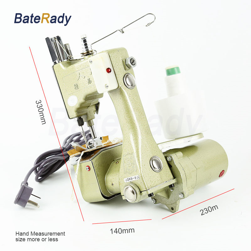 GK9 8 BateRady Manual sewing machines,Hand Packet machine,PP woven sack closer,electrical portable sewing machine.rice bag seale