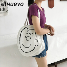 Canvas Bag Reusable Shopping Bags Grocery Tote Bag Cotton Daily Use Handbags Women Casual Cartoon Oblique Handbag Shopping Bags цена 2017