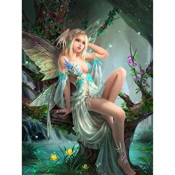 Полноразмерная алмазная живопись, Сказочная искусственная картина 5D Diy, игла, искусство