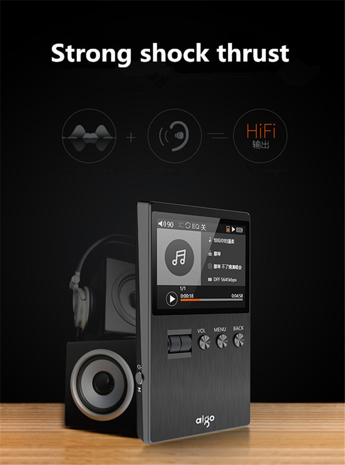 2017 Newest Aigo M6 DSD64 32G Portable Audio Hifi Lossless Music Player High Quality Mini Sport MP3 Player Can Play 60hour Black (18)