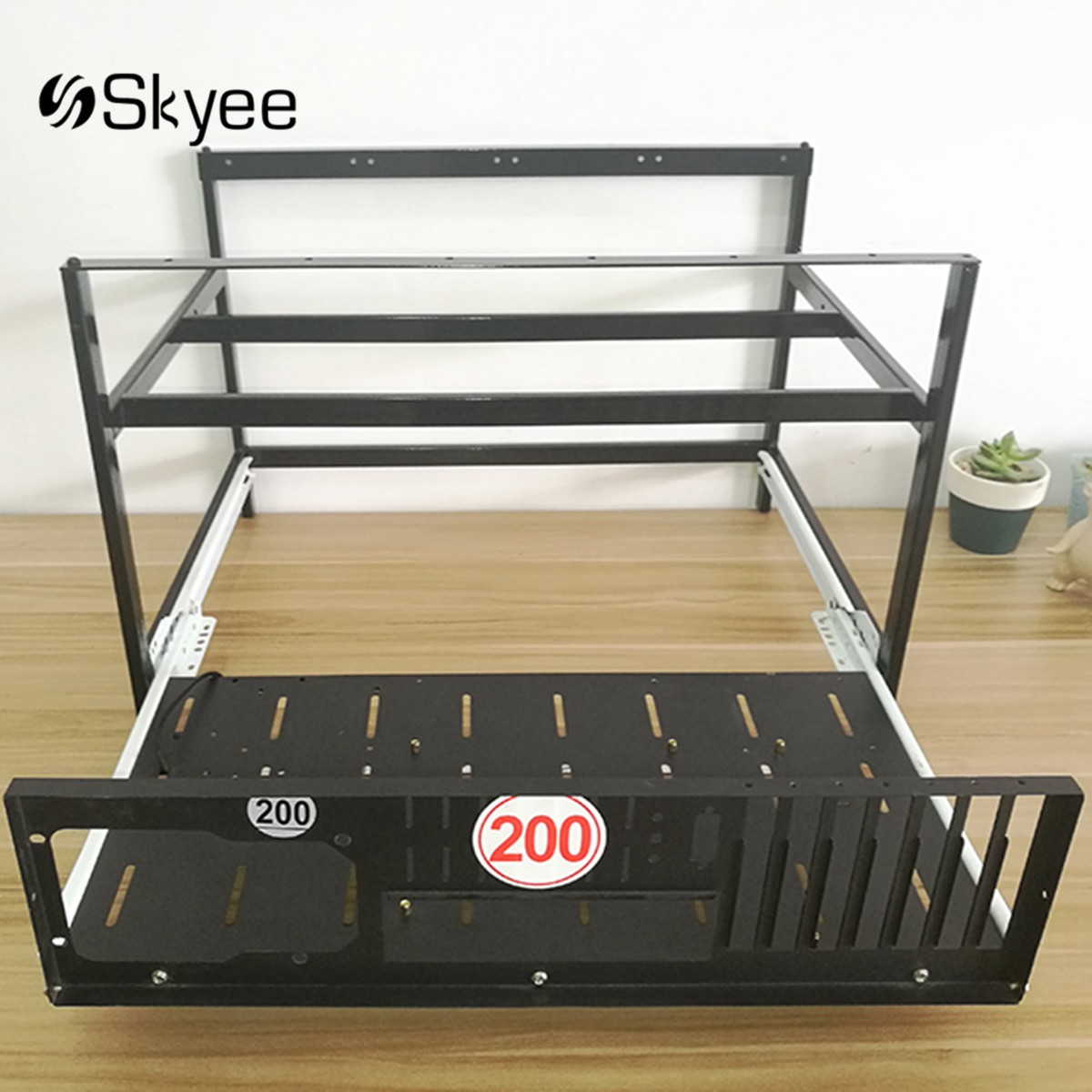 S SKYEE Open Air Mining Rig Push Pull Frame Miner Case For 6 GPU ETC BTH