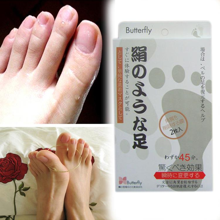 Hot sale New 1 Pair Remove Dead Skin Baby Foot Peeling Renew Mask Cuticle Heel Drop shipping 0089