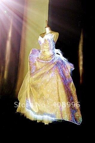 548d8b7ebc9 La fiber optique lumineuse tenue officielle pour la robe de soirée robe de  mariée  ...