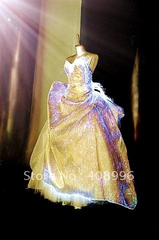 Optical fiber luminous formal attire for evening party/wedding dress/cocktail dress