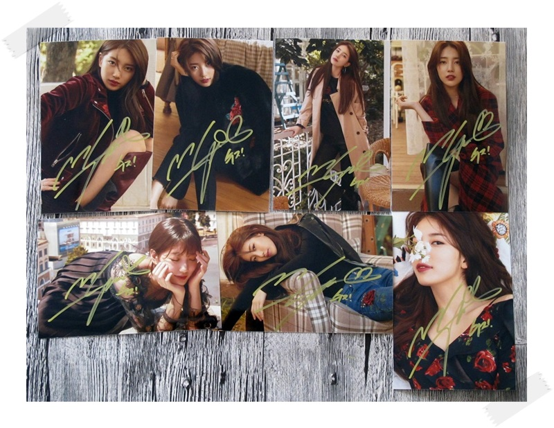 Signed SUZY Bae Sue Ji Autographed photo While You Were Sleeping 4*6 free shipping 7 versions K-POP 102017A