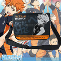 2015 Hot-selling Anime Japanese haikyuu theme letter black orange personalized big capacity messenger bag