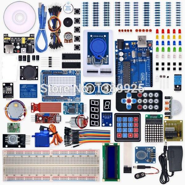 Progetto Completo Starter Kit UNO R3 con Lezione Weikedz CD, UNO R3, Ponticello, per Ar-du-ino