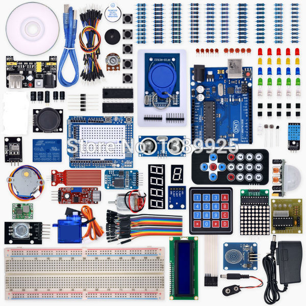 Weikedz UNO R3 Project Complete Starter Kit with Lesson CD ,UNO R3, Jumper Wire, for Ar-du-ino