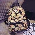 2016 Novas Mulheres Mochila Moda Causal Floral Impressão Mochilas de lona Mochila Para Adolescentes Meninas Mochilas Schoolbag