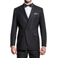 Men's 2 Piece 2 Button Double Breasted Black Bespoke Classic Suits For Any Party With Luxury Designed Tuxedos Men Suits