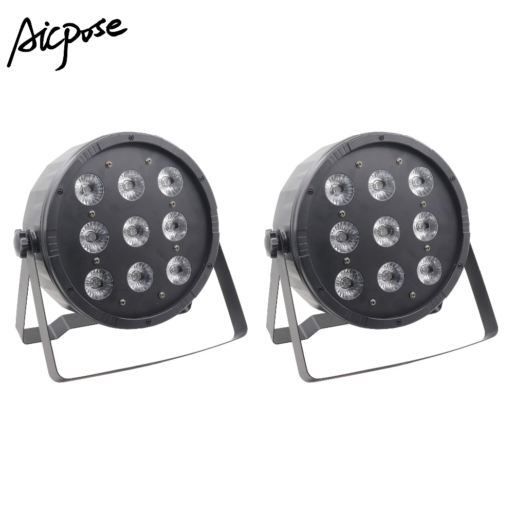 2Pcs/lots LED Par 9x12W RGBW 4in1 Stage Light DMX512 Disco DJ Stage Light LED Strobe Pair Party BAR Stage Effect Lighting