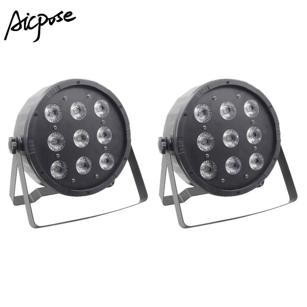 2Pcs/lots LED Par 9x12W RGBW 4in1 Stage Light DMX512 Disco DJ Stage Light LED Strobe Pair Party BAR Stage Effect Lighting