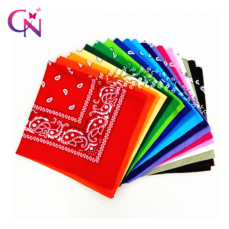 Fashion Women Hair Accessories Linen Bandana Scarf Square Female Bandanas   Headwear   Rock Cool Girls Multi Headbands