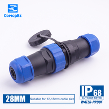 Sp28 3pin 5pin 7pin 9pin 12pin 16pin 19pin 24pin Waterproof & Dustproof Aviation Connector,IP68, Plug And Socket,Male Female