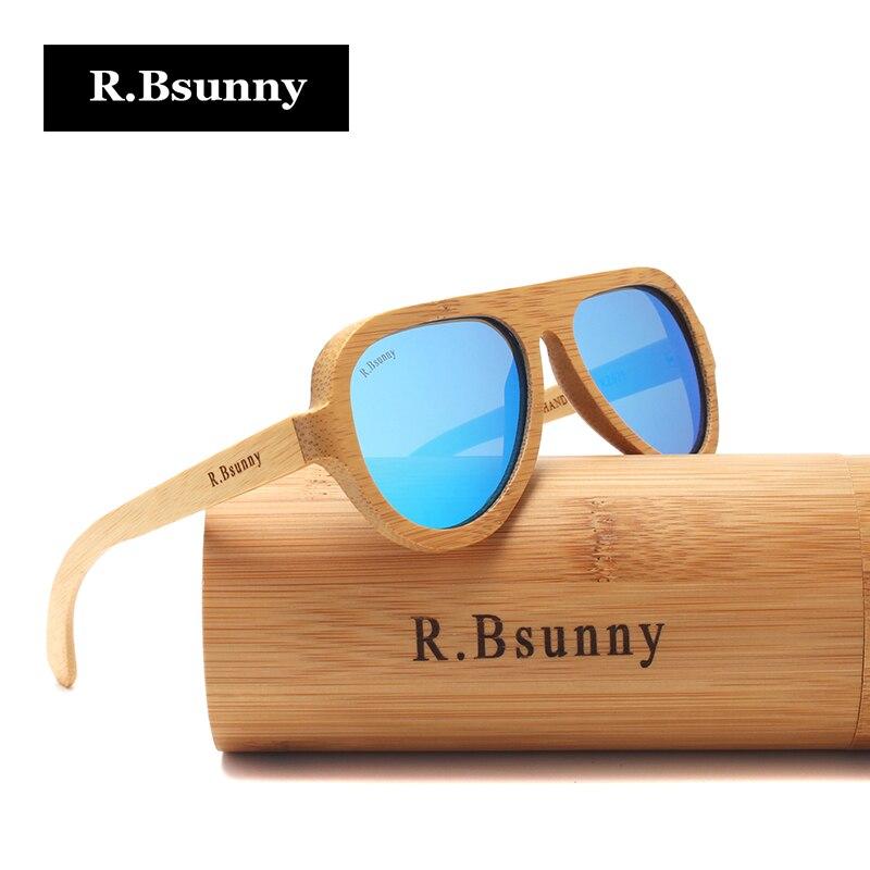 R Bsunny Polarized Wood Sunglasses men Driving Bamboo Sun Glasses Retro Wooden frames font b Eyewear